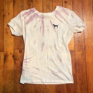 VS PINK tye dye tee shirt